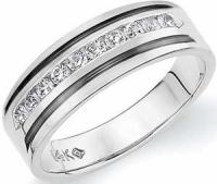 Mens Platinum Bands : Pure White in Pure Form,