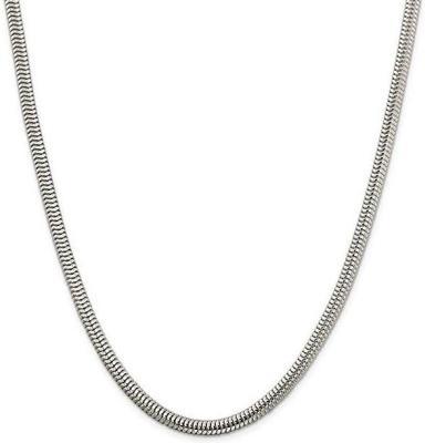 Brilliant Bijou Solid .925 Sterling Silver 7.75mm Figaro Anchor Chain Bracelet